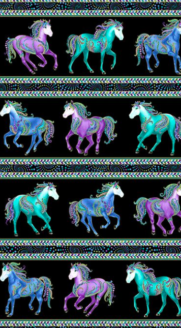 Horsen Around Stripe Black