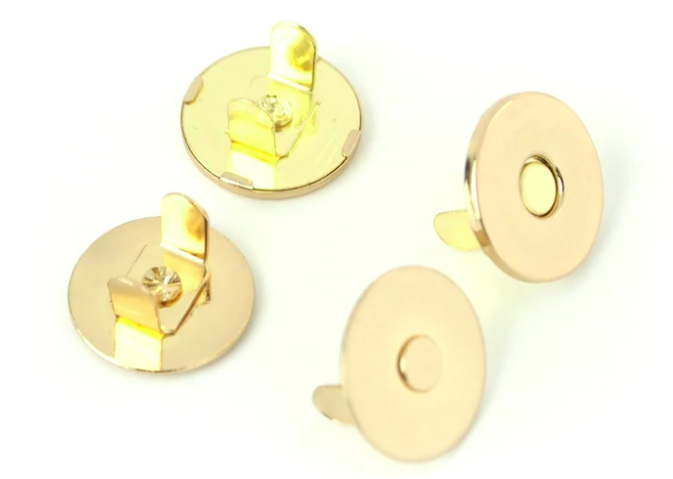 3/4 2 MAGNETIC SNAPS - GOLD