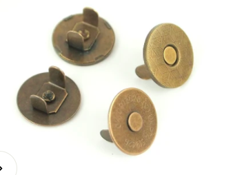 3/4 2 MAGNETIC SNAPS - ANTIQUE BRASS