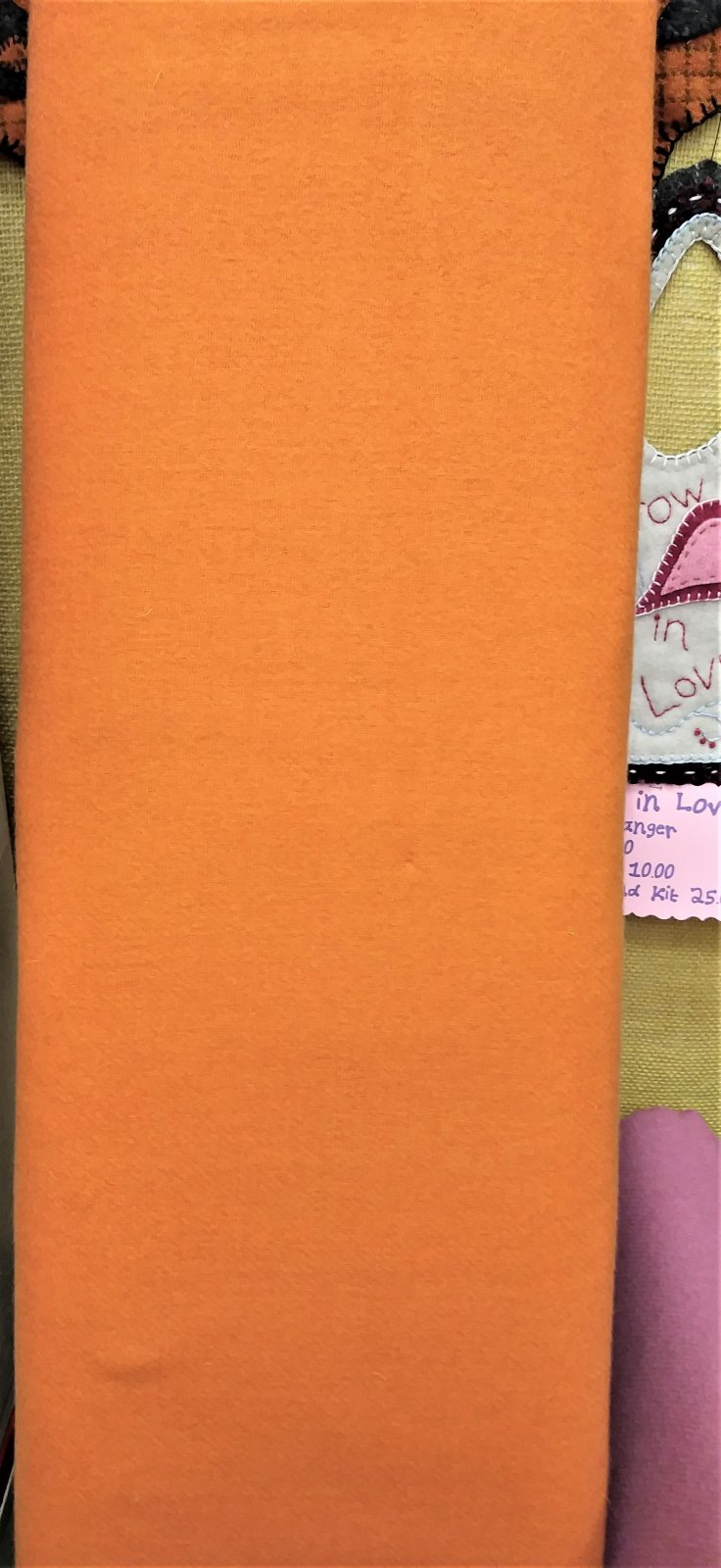 Moda Classics 100% Wool Fabric 54810-44 Orange