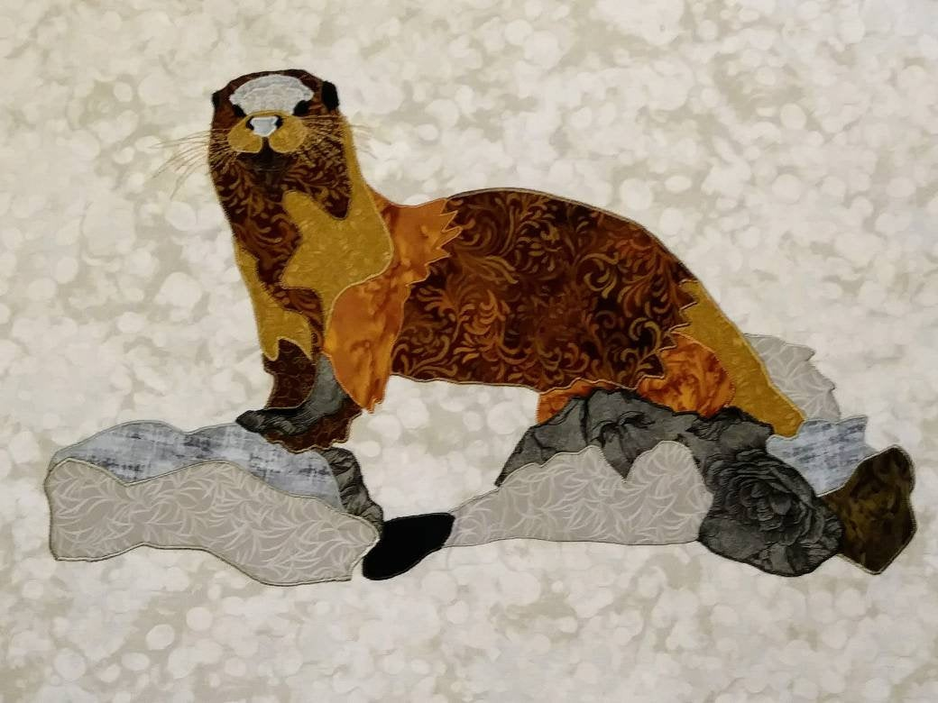 Otter - Press & Peel Applique - Lake Living Series - Laser Cut Kit