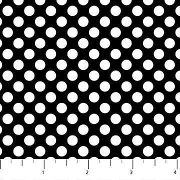 Northcott Colorwork Concepts 21620 99 black and white 100% cotton fabric