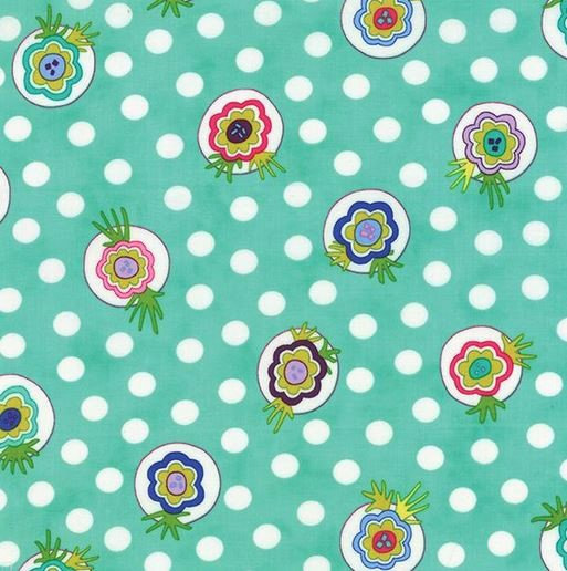 Moda 22231 12 Me & My Sisters Designs LOL Turquoise with flowers 100% cotton fabric