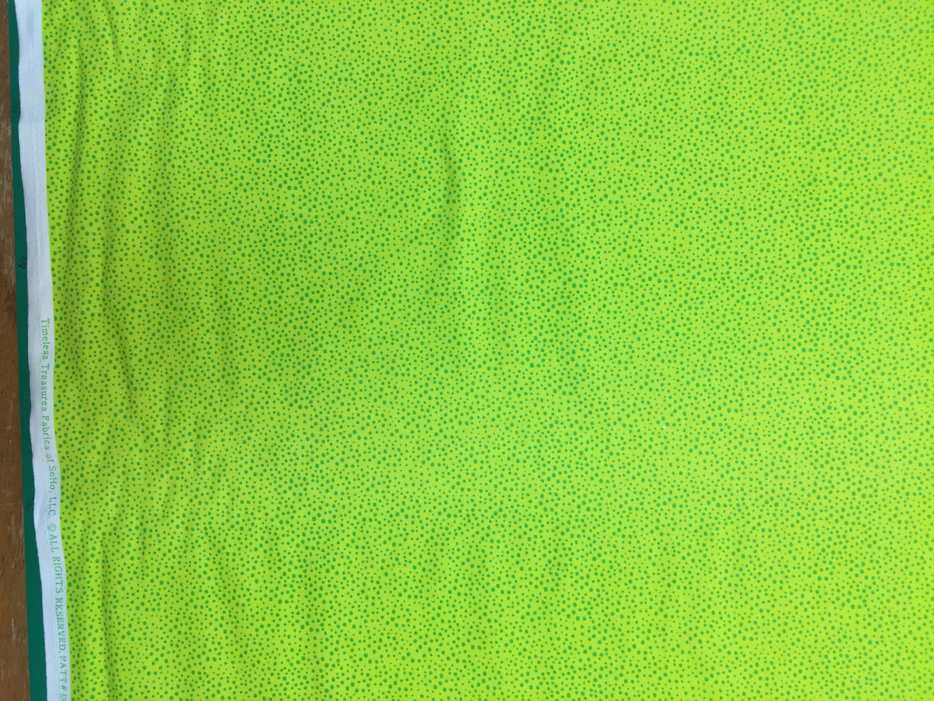 Timeless Treasures Dot C5510 Lime fabric (with green dots)