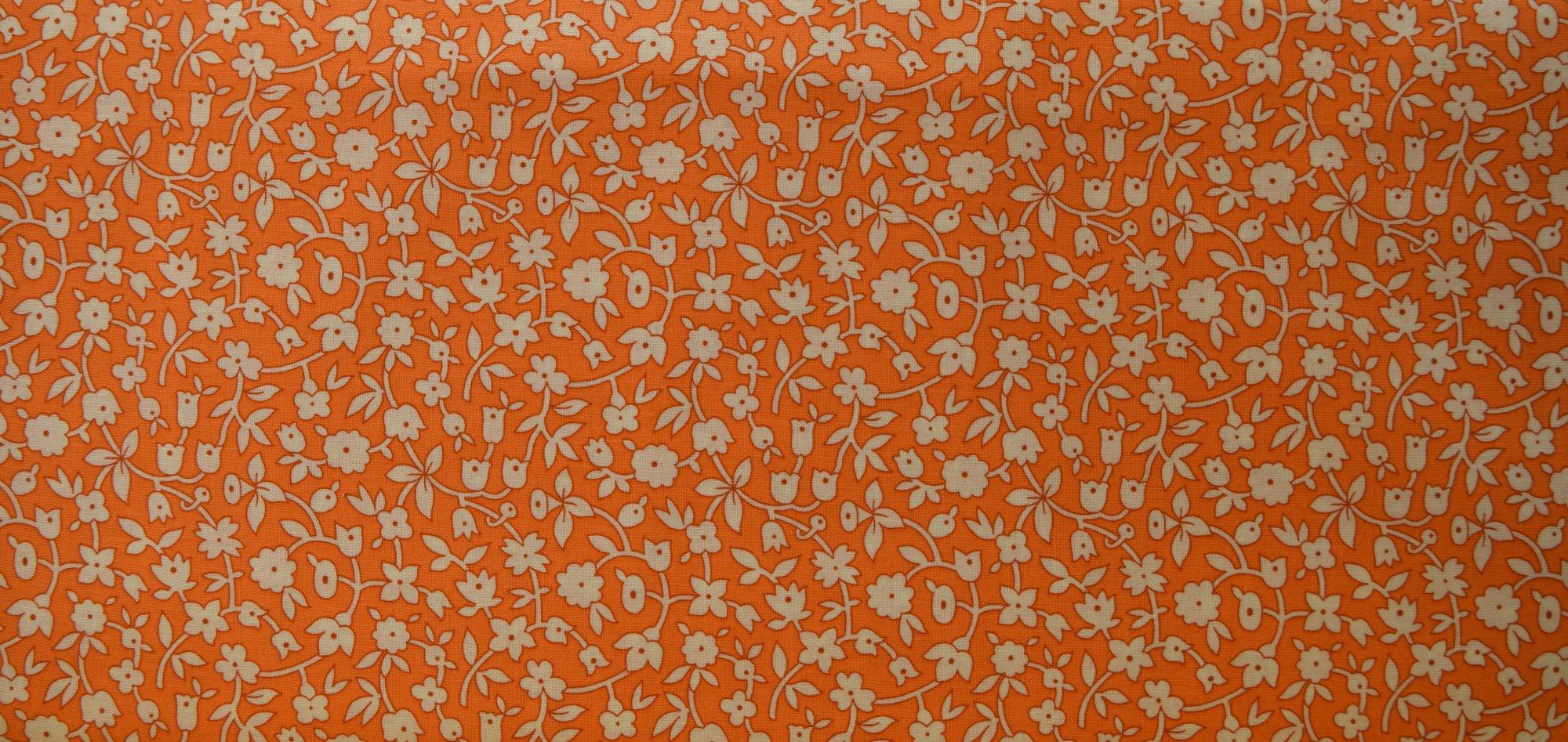 Aunt Grace Orange Floral 6260-0328