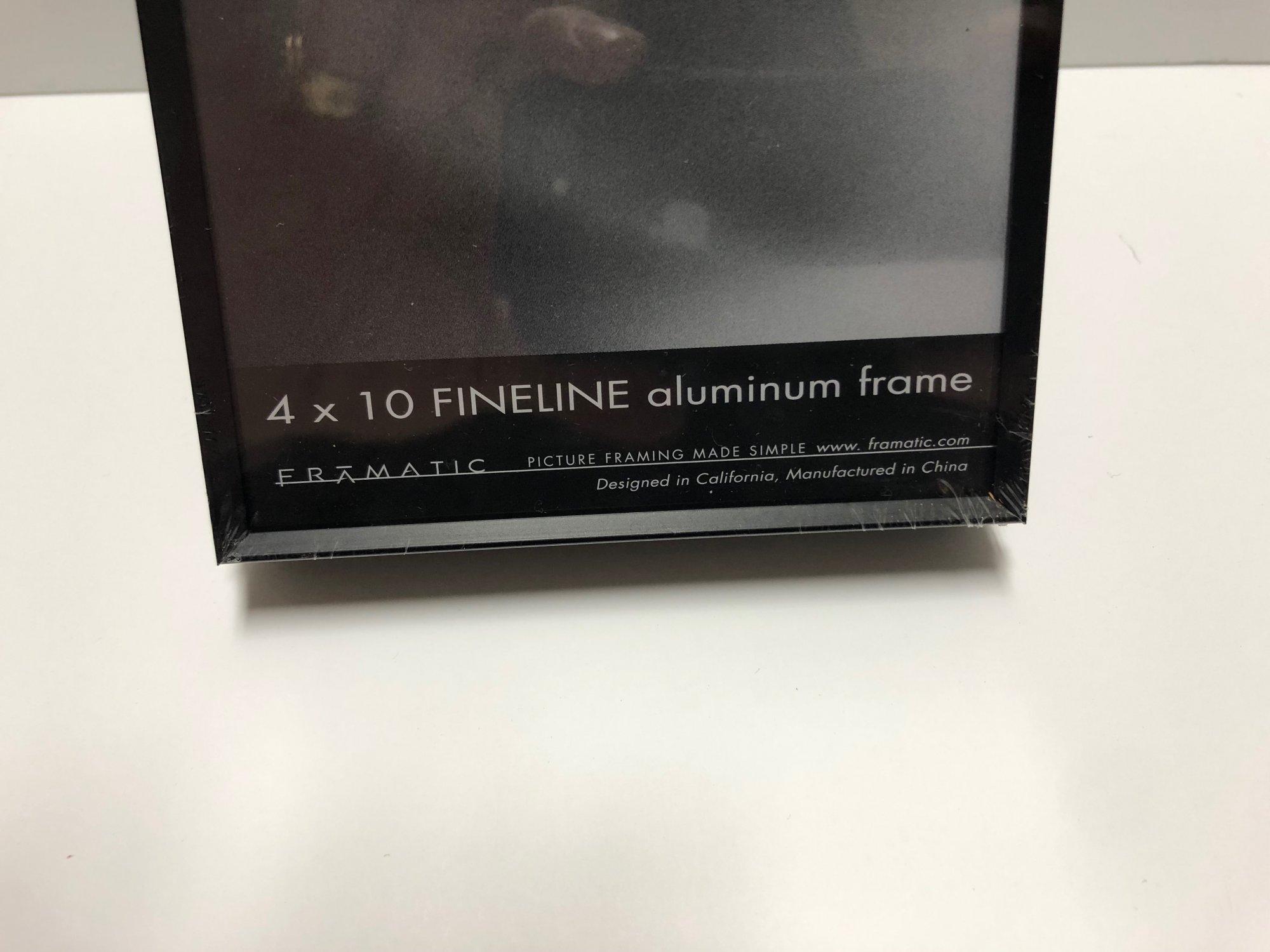 Framatic Fineline 4 x 10 Black Metal Readymade Frame