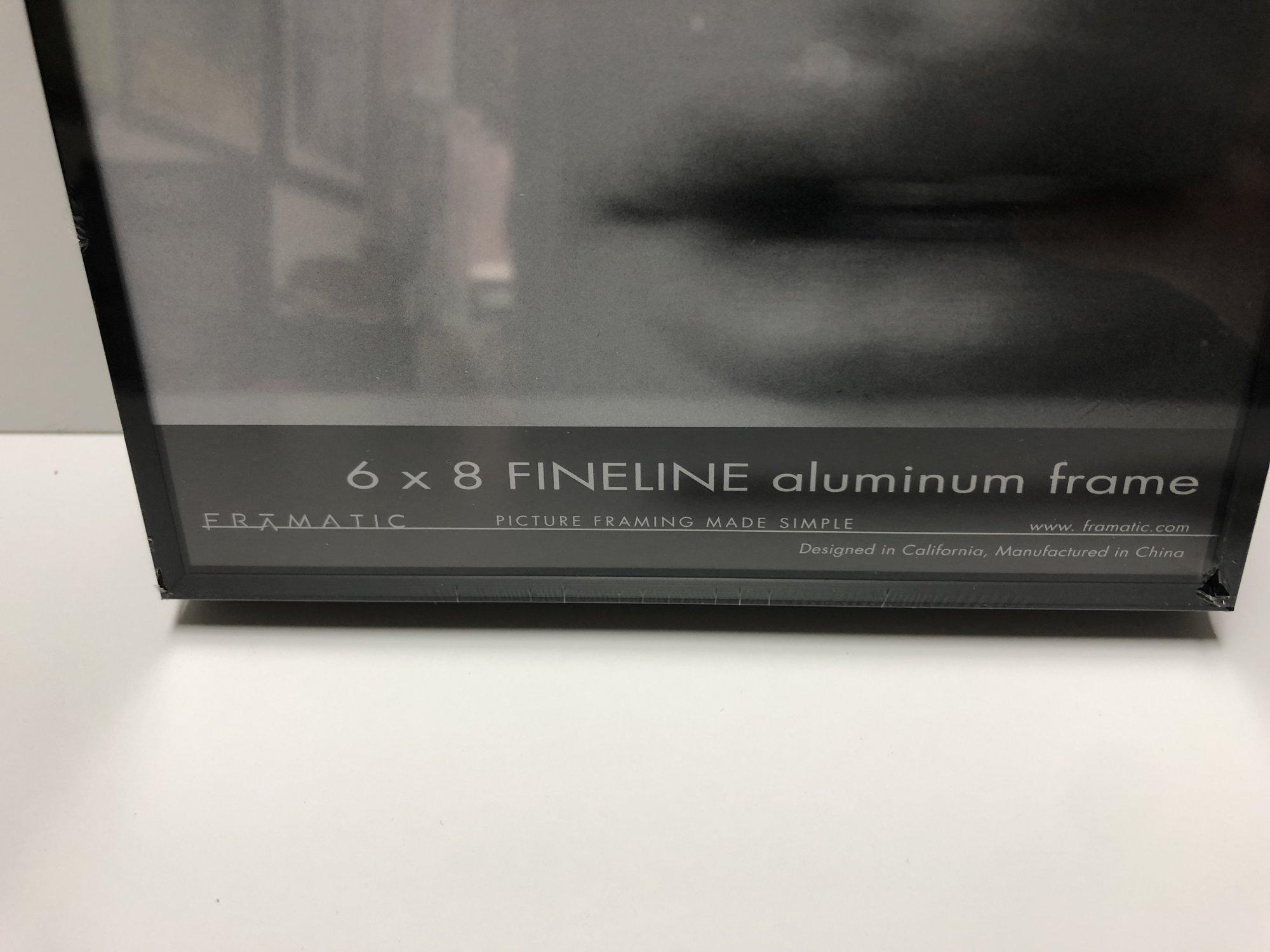 Framatic Fineline 6 x 8  Black Metal Readymade Frame