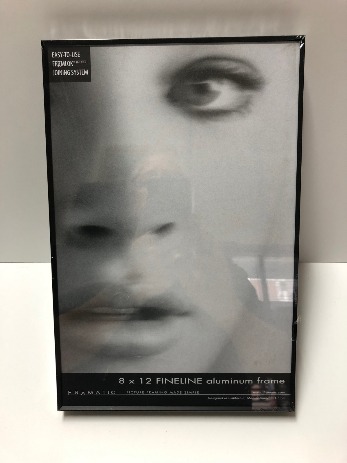Framatic Fineline 8 x 12 Black Metal Readymade Frame