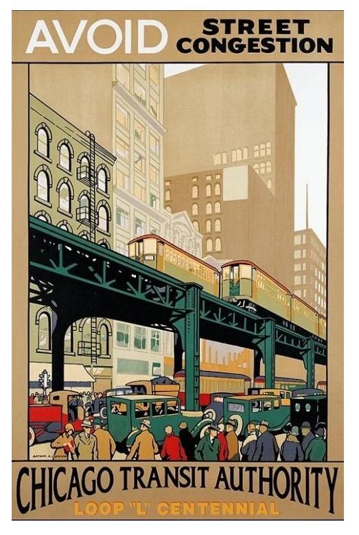 Avoid Street Congestion CTA Centennial Poster