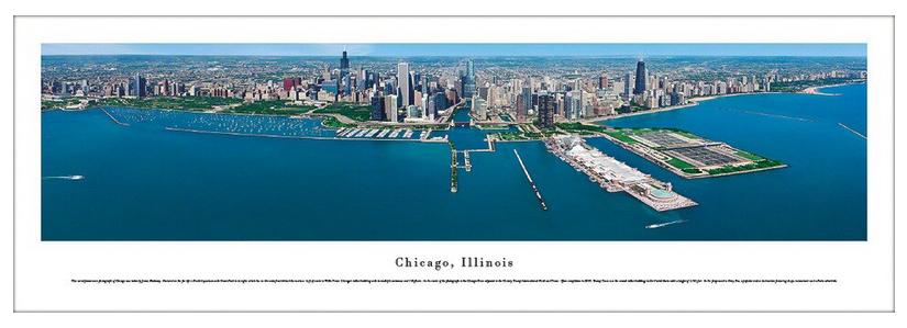 #CHI-10 Aerial Daylight Chicago Panoramic Print