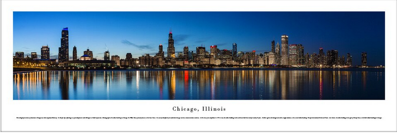 #CHI-13 Blakeway Panoramic Chicago photo print