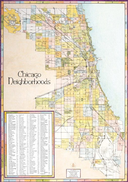 Chicago Neighborhoods Map Edition #1