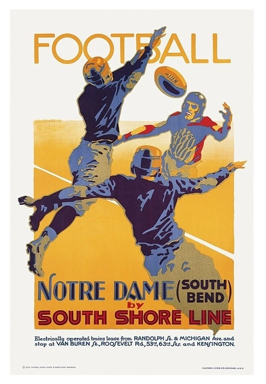 Football: Notre Dame by South Shore Line