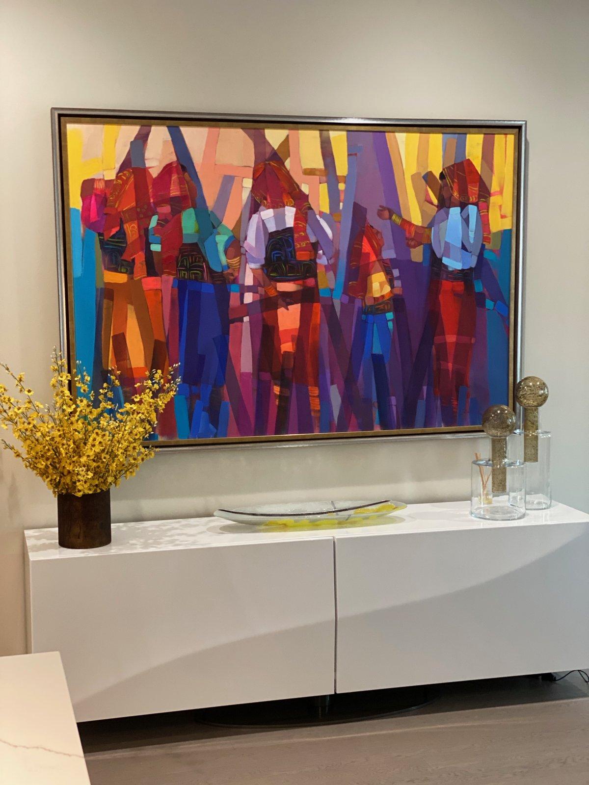a double-framed canvas