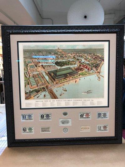 Columbian Exposition Memorabilia Collage