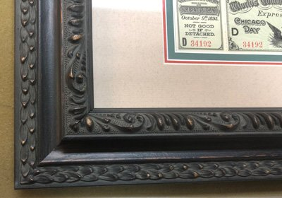 frame detail of Columbian Exposition frame