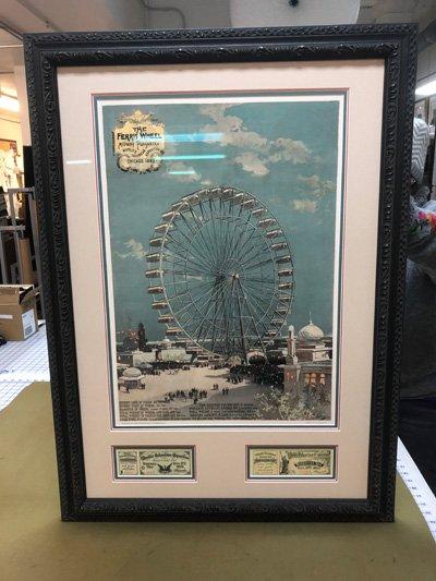 Ferrris wheel print with memorabilia