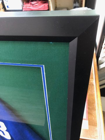 Jersey frame with matting showing