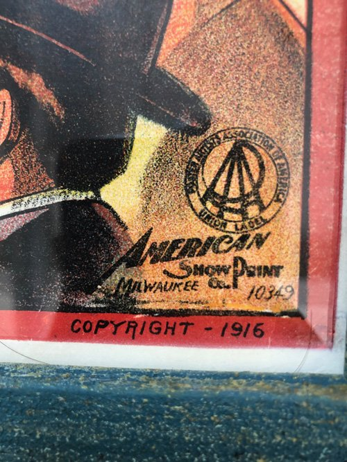 date stamp on carnival poster