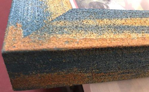 edge detail on carnival frame
