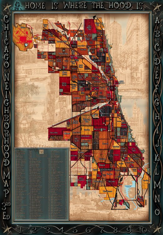 Chicago Neighborhoods Map Edition #3
