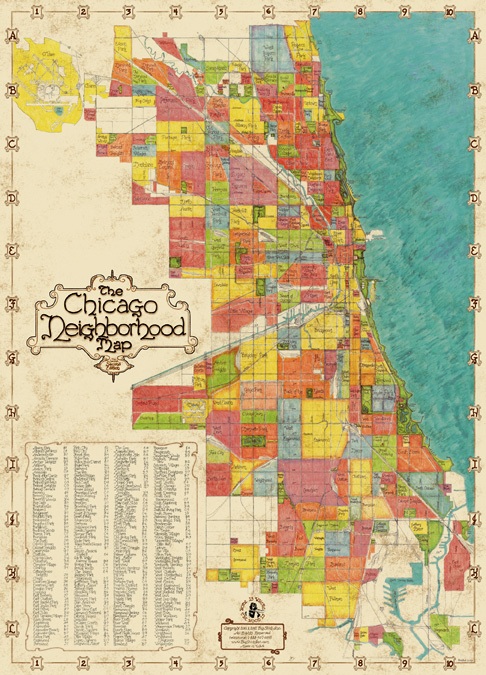 Chicago Neighborhoods Map #2