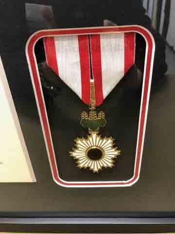 Diplomatic medal matting detail