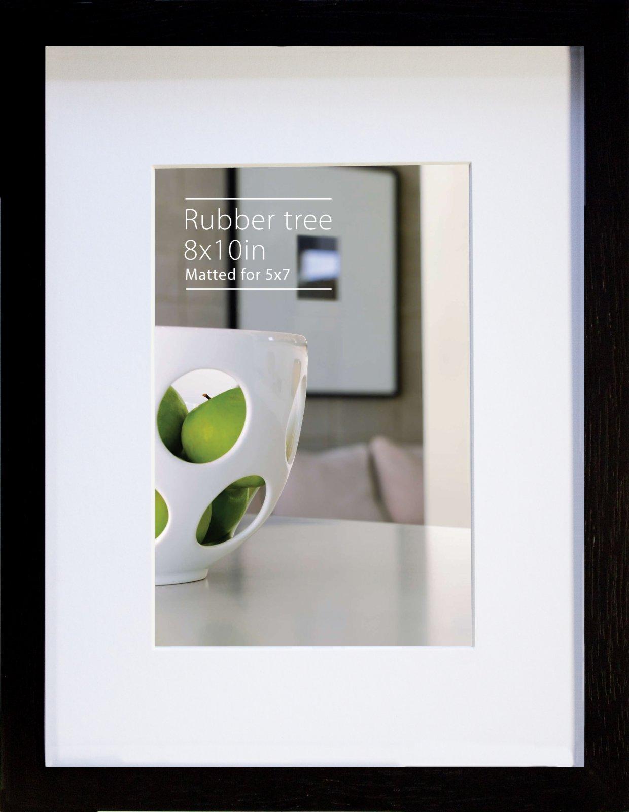 NB 8 x 10 EcoCare Black Rubberwood Frame