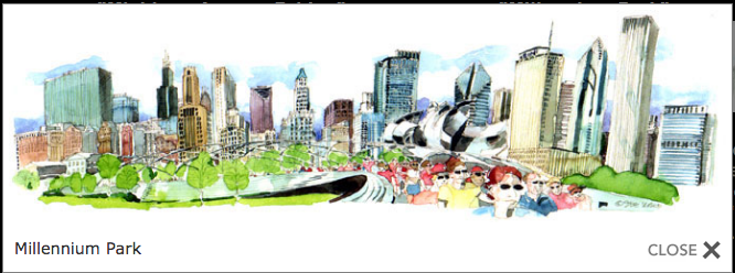 Millenium Park 17 x 5.5 panoramic print by Steve Slaske