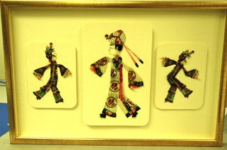 Chinese Oxhide Puppets Shadowbox-Full view
