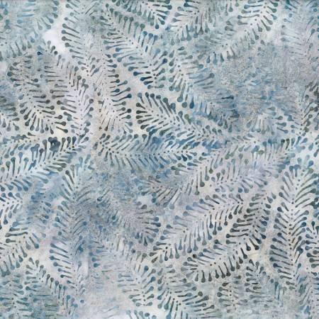 Grey Packed Ferns Batik