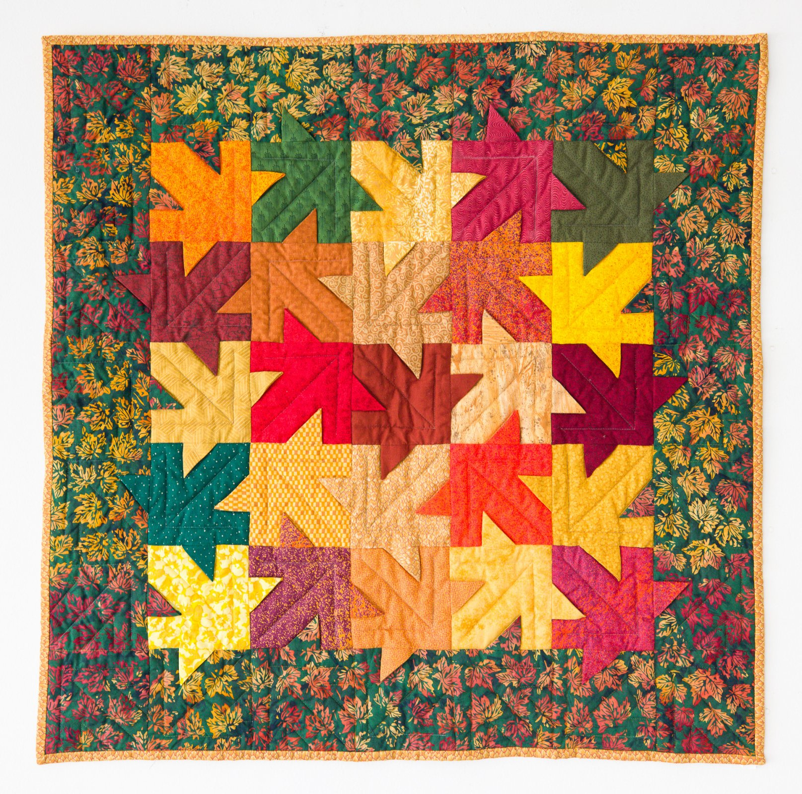 Autumn Leaves Wallhanging