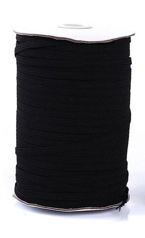 Flat Black Elastic 1/4in 200yd Roll