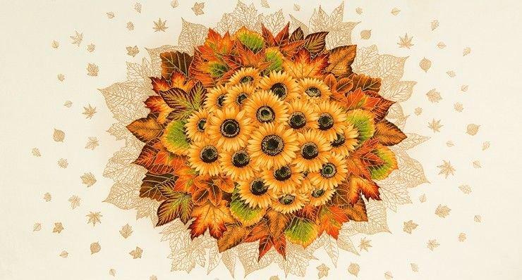Shades of the Season Sunflower Panel