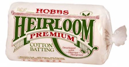 Batting Heirloom Premium Cotton Blend 120in x 120in King