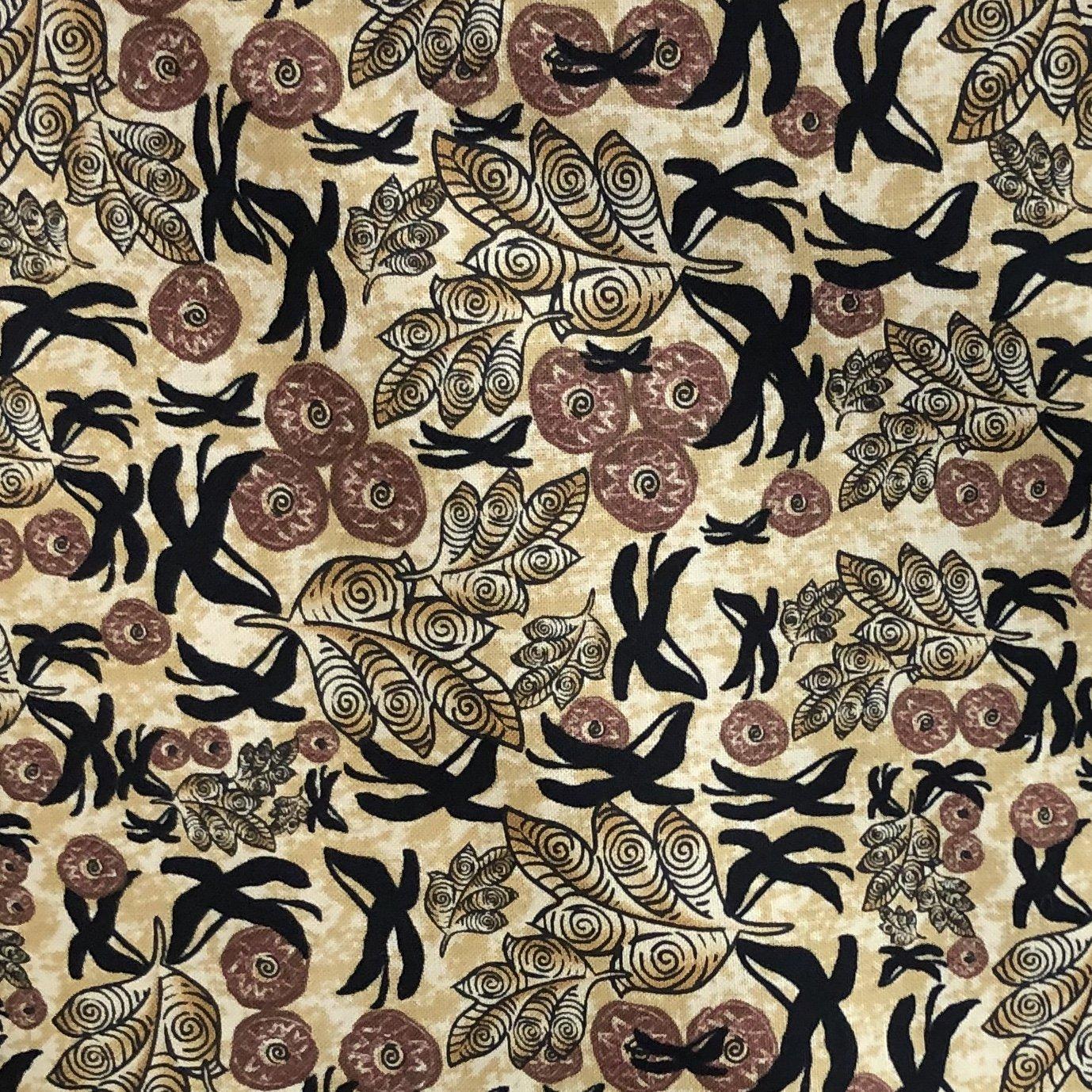 Woodblock Leaf Pattern