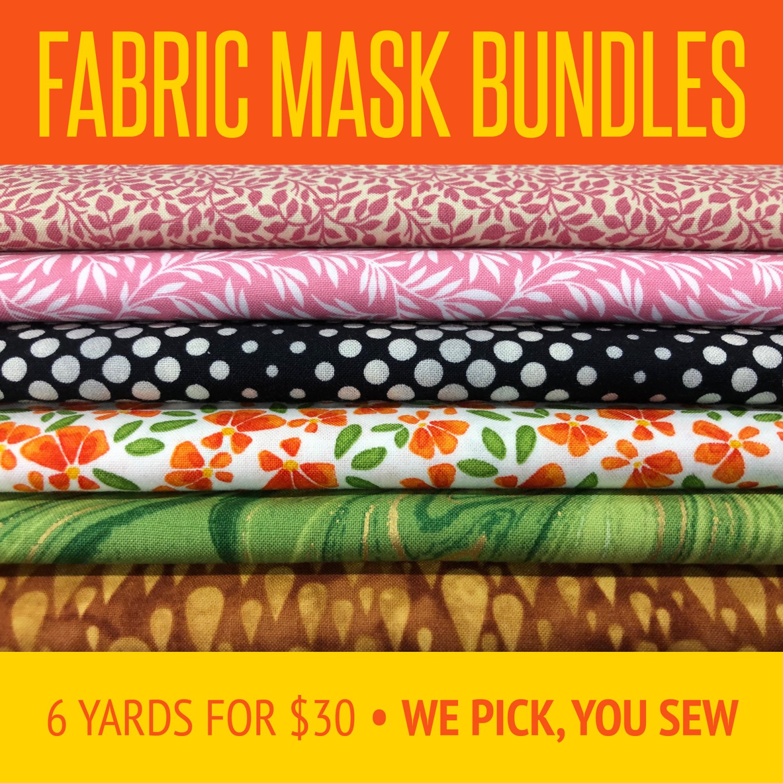 FABRIC BUNDLES for masks
