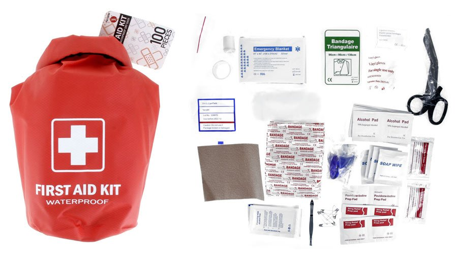 100 pc WATERPROOF FIRST AID KIT