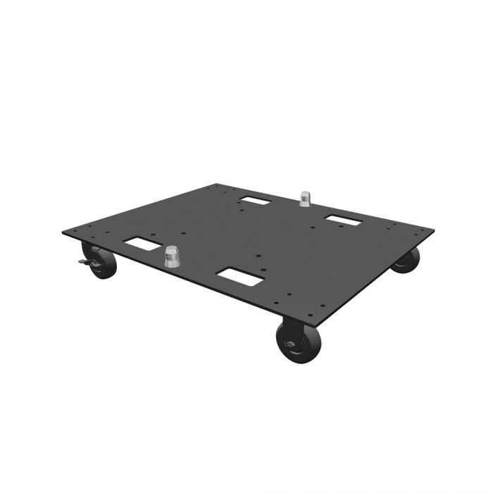 Global Truss Base Plate 24x30WC - 24 x 30 Steel Base Plate with Casters