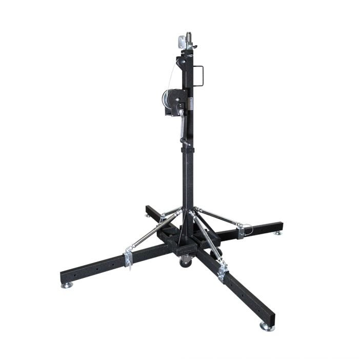 Global Truss ST-157 - 15.7' Medium Crank Stand with Outriggers