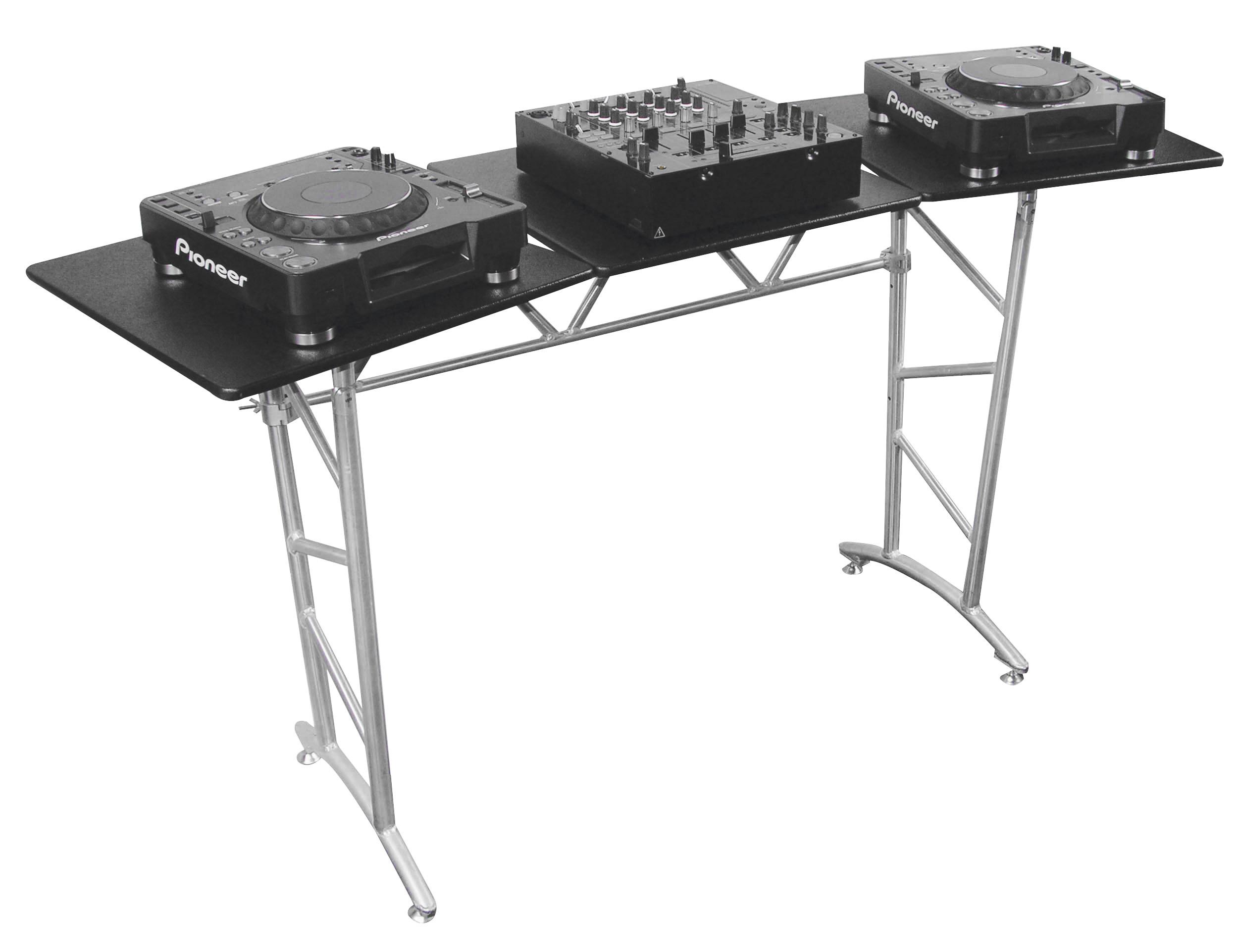 Odyssey Case ATT2 - Truss Table, Diamond Textured with Swivel Side Platforms and Folding Legs