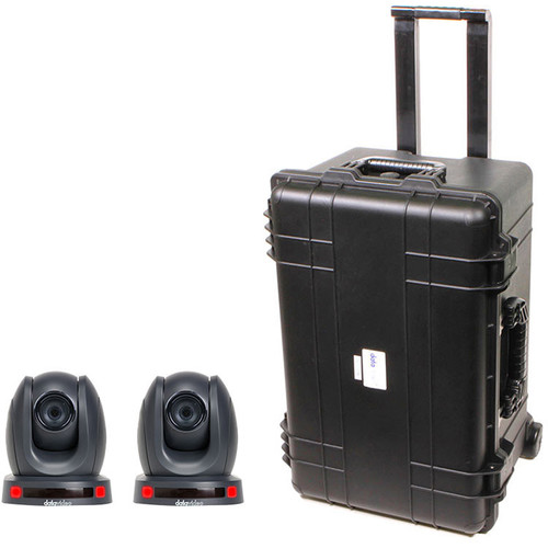 Data Video GO-2CAM140TC - PTZ Camera Kit with Two PTC-140T Cameras and an HC-800 Case