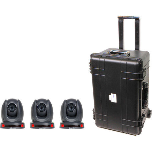 Data Video GO-3CAM140TC - PTZ Camera Kit with Three PTC-140T Cameras and an HC-800 Case