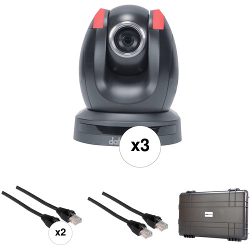 Data Video GO-3CAM - 3 Camera PTC-150 Go Kit with Cable and Wheeled Case