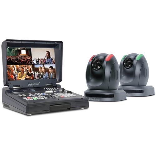 Data Video HS-1500T-2C - 2-PTZ Camera and HDBaseT Switcher Kit