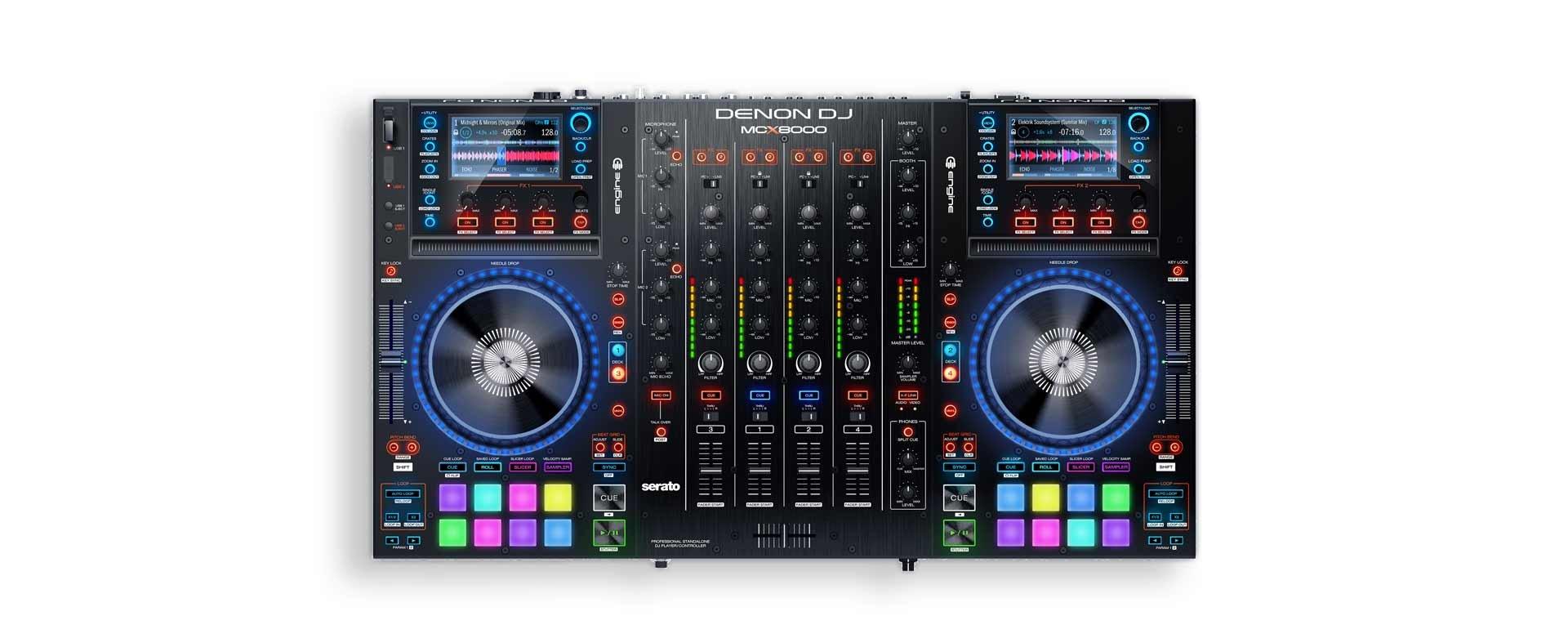 Denon DJ MCX8000 - Professional 4 Channel Digital DJ Mixer
