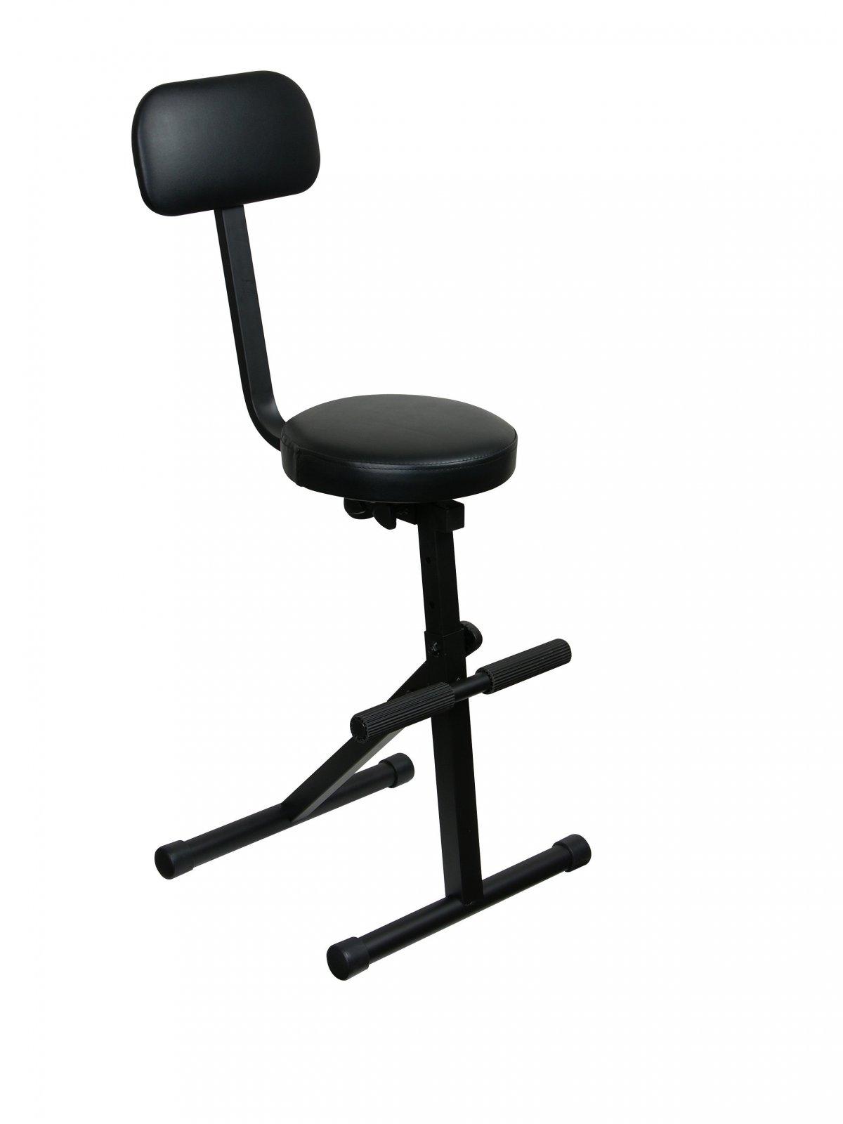 Odyssey Case DJChair - DJ Chair, 5 Adjustable Heights, Black