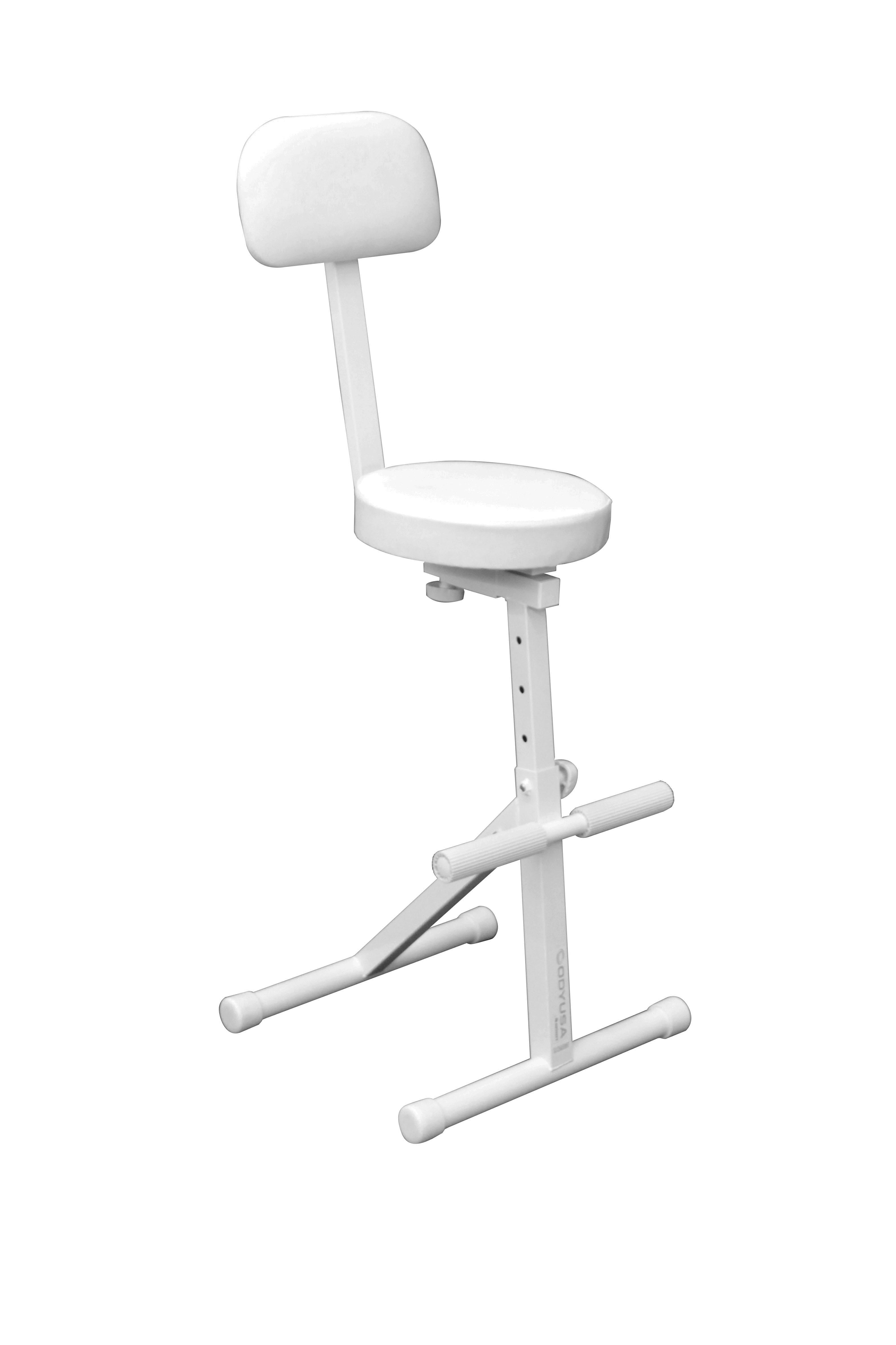 Odyssey Case DJChairWHT - DJ Chair, 5 Adjustable Heights, White
