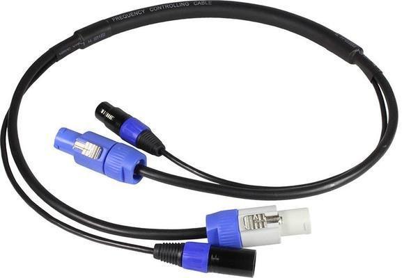 Blizzard Powercon + 5-Pin DMX Combo Cable - 10'