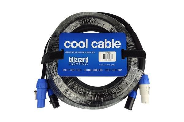 Blizzard Powercon + 3-Pin DMX Combo Cable - 25'